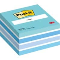 Post-it Sticky Notes Cube 76 x 76 mm Pastel Blue 450 sheets