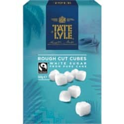 Tate & Lyle White Rough Sugar Cubes 500 g