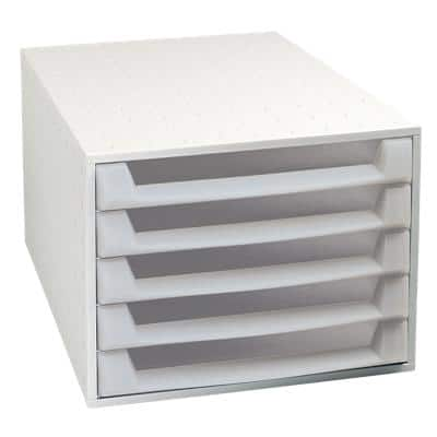 Exacompta Filing Drawers Set of 5 Grey 218 x 284 x 387 mm