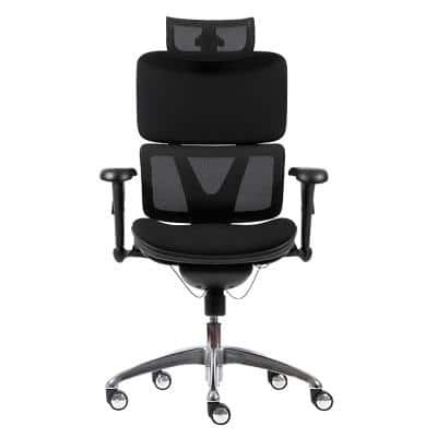 Realspace Synchro Tilt Ergonomic Office Chair with 2D Armrest and Adjustable Seat Nimbus Black