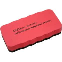 Office Depot Whiteboard Eraser Magnetic Red