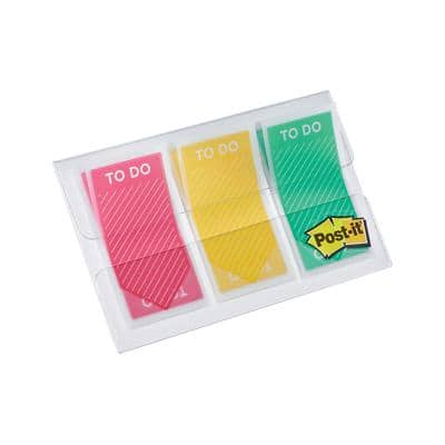 Post-it Index Flags To Do Assorted 3 Pieces of 20 Strips