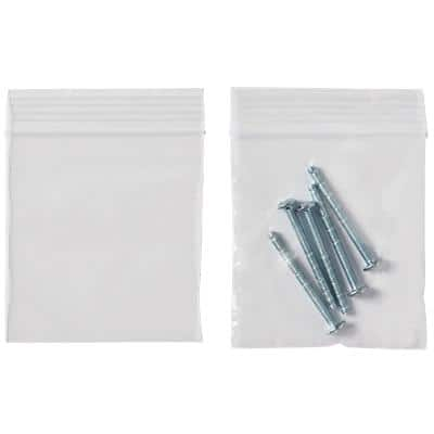 Niceday Grip Seal Plain Bags Clear 76 x 83 mm 1000 Per Pack