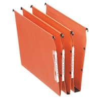 Esselte Orgarex Dual 330 Lateral Suspension File 21629 U Base 30 mm 220 gsm Orange 100% Recycled Manilla Pack of 25
