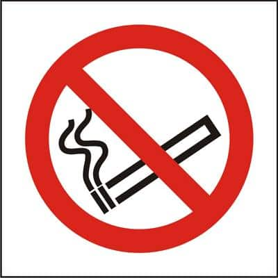 OKI Prohibition Sign No Smoking PVC 15 x 15 cm