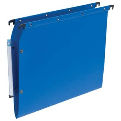 ELBA Lateral Suspension File Lateral A4 Blue Polypropylene 25 Pieces