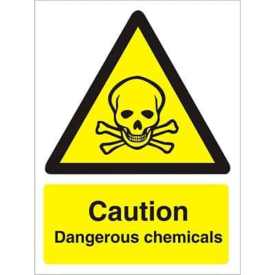 Warning Sign Dangerous chemicals Vinyl 20 x 15 cm