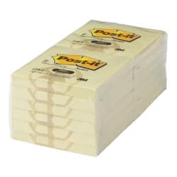 Post-it Recycled Notes 76 x 76 mm Yellow 12 Pieces of 100 Sheets