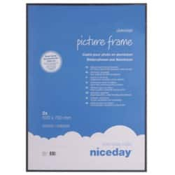 Niceday Aluminium Frame Black 700 H x 500 W mm 2 Per Pack