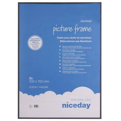 Niceday Wall Mountable Picture Frame 978906 700 x 500 mm Black Pack of 2