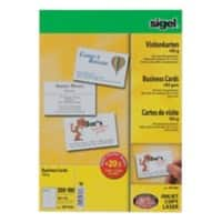 Sigel DP930 Business Cards 85 x 55 mm 185gsm White 600 Pieces