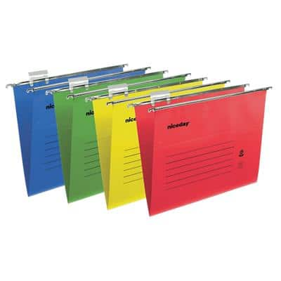 Niceday Vertical Suspension File Foolscap Assorted Manila 50 Pieces
