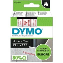 DYMO Labelling Tape 45015 12 mm x 7 m red / white