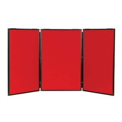 Freestanding Display Stand Nyloop Fabric Lightweight 610 x 915 mm Red