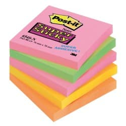 Post-It Super Sticky Cape Town Notes(76 mm x 76 mm) 5 Pads Per Pack