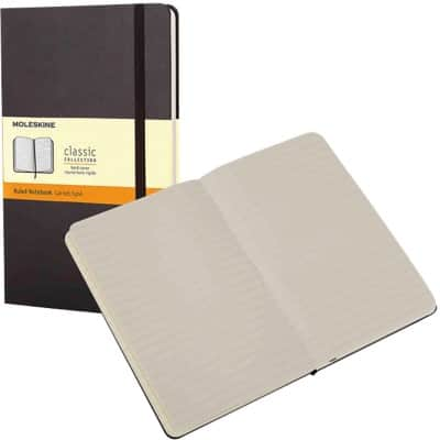 Moleskine Hard Cover Large Notebook Ruled 240 Pages Black