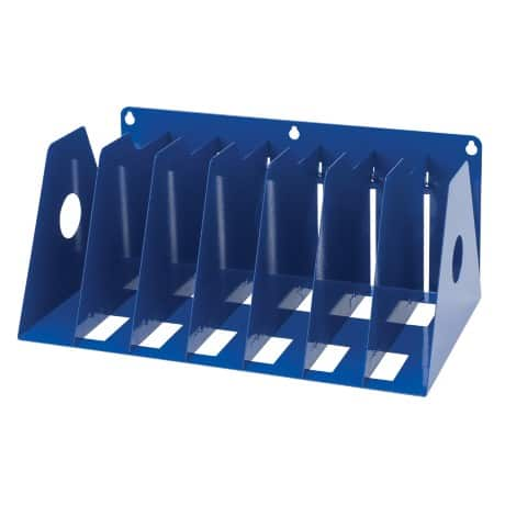 Rotadex Filing Rack A4 Holds up to seven ring binders Blue 16.2 x 36.8 x 22.2 cm