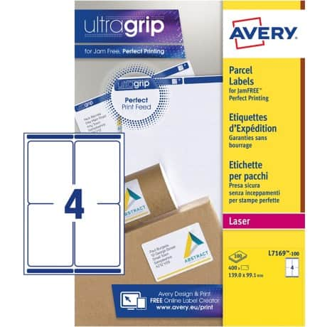 Avery Parcel Labels L7169-100 White 400 labels per pack