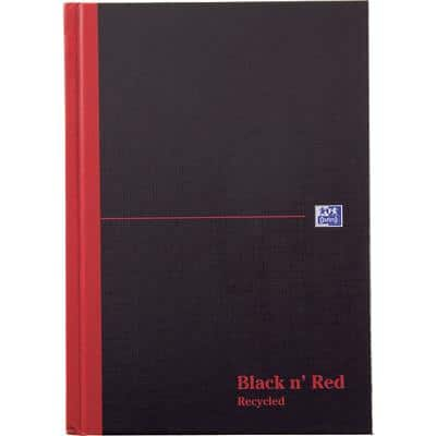 OXFORD Black 'n' Red Notebook A5 Ruled Casebound 192 Pages