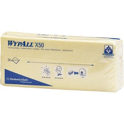 WYPALL Cleaning Cloths X50 Yellow Pack of 50