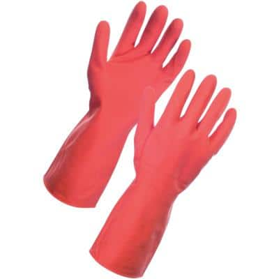 Gloves Vinyl Size S Red Pack of 12
