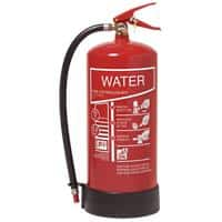 Jactone Class A Water Fire Extinguisher BS EN3 Certified 9 Litre 18.9 x 55.2 cm