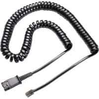Plantronics Headset Cable U10P Smoke for Plantronics Corded headset products, Deskphones with an RJ11 plug