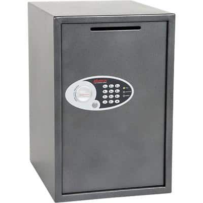 Phoenix Deposit Home & Office Size 5 Security Safe with Electronic Lock 88L Vela SS0805ED  560 x 370 x 445mm Metallic Graphite