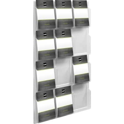 helit Display Unit Wall Mounted 12 x A4 Clear
