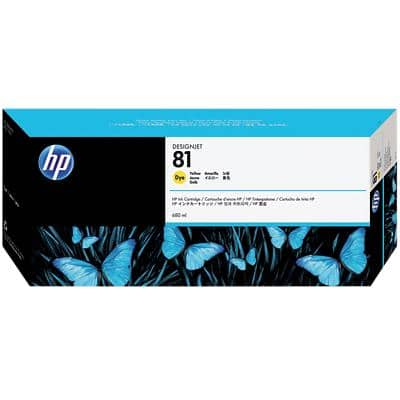 HP 81 Original Ink Cartridge C4933A Yellow