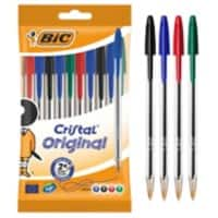 Bic Cristal medium 1.0 mm ballpoint pen assorted - pack of 10