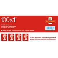 Royal Mail 1st Class Self Adhesive Postage Stamps Pack of 100