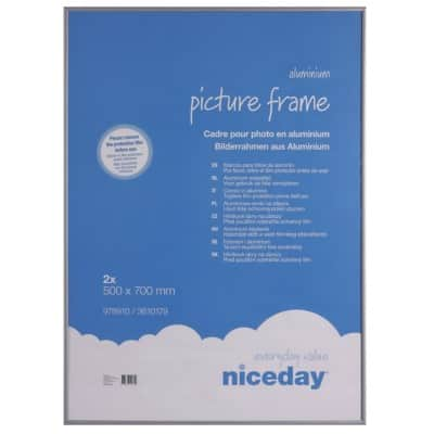 Niceday Aluminium Frame Grey 700 H x 500 W 3mm 2 Per Pack