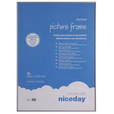 Niceday Wall Mountable Picture Frame 978910 Special Format 700 x 500 mm Grey Pack of 2