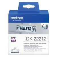 Brother Label Tape DK22212 62 mm White