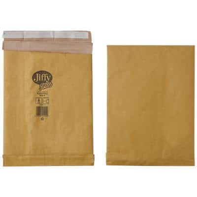 Jiffy Padded Envelopes PB4 90gsm Brown Plain Peel and Seal 225 x 343 mm Pack of 100
