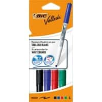 Bic Velleda Whiteboard Marker, Assorted - Pack of 4
