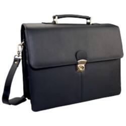 Monolith Black Leather Briefcase
