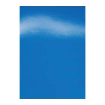 GBC HiGloss Binding Covers A4 Cardboard 250 gsm Blue Pack of 100