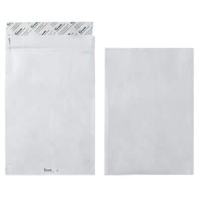 Dupont C4 Gusset Envelopes 229 x 324 mm Peel and Seal Plain 55gsm White Pack of 100