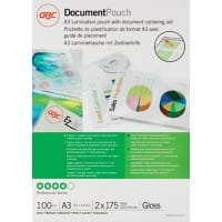 GBC Laminating Pouches Glossy 2 x 175 (350 Micron) A3 100 Pieces