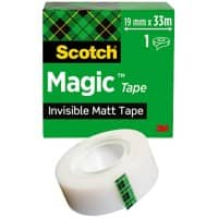 Scotch Tape Magic 19 mm x 33 m Invisible