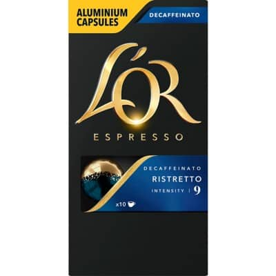 L'OR Coffee Capsules Espresso Ristretto Decaffeinato 10 Pieces