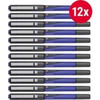 Foray Glide F Rollerball Pen 0.5 mm Blue 12 Pieces