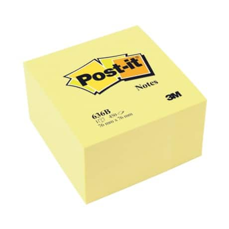 Post-it Sticky Notes 76 x 76 mm Canary Yellow 450 Sheets