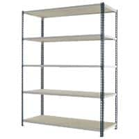 Kwik Rak Shelving Unit with 5 Shelves SX008GXGU 1500 x 600 x 1981mm Dark Grey & Light Grey