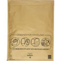 Mail Lite Mailing Bags k/7 79gsm Gold plain peel and seal 50 pieces