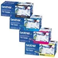Brother TN-130BK/C/M/Y Original Toner Cartridge Black & 3 Colours Pack of 4