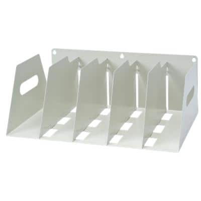 Rotadex Filing Rack Holds 5 Lever arch Files White 16 x 42.5 x 30 cm