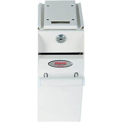 Phoenix Under Counter Note Deposit Safe with Key Lock 2L SS0991KD 225 x 100 x 195mm White